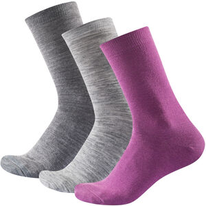 Devold Daily Light Socks 3-Pack Damen anemone mix