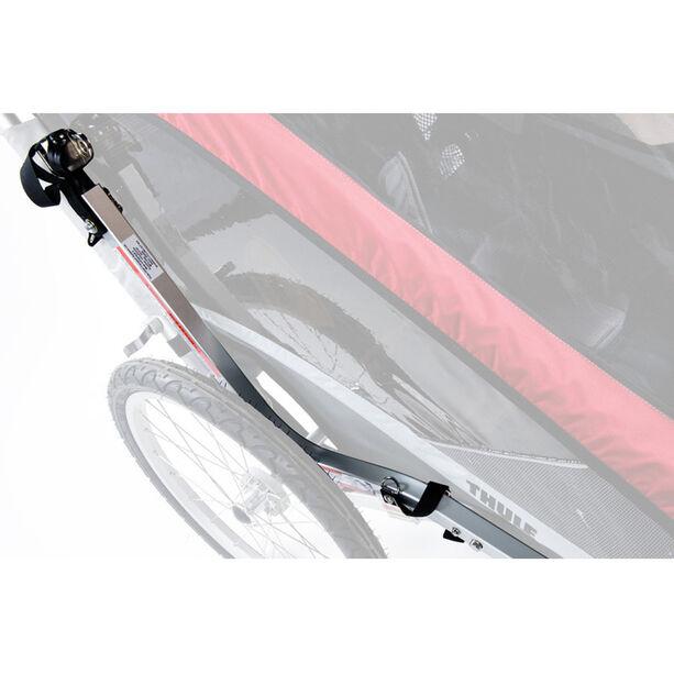 Thule Chariot Cougar 1 Bike Trailer + Bicycle Trailer Kit red