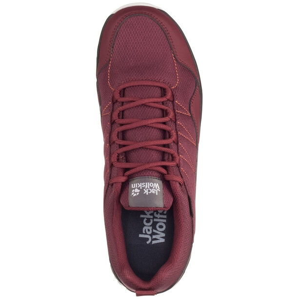 Jack Wolfskin Maze Texapore Low Schuhe Damen burgundy/phantom