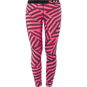 Salming Flow Tights Damen coral/all over print coral/all over print
