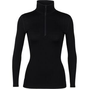 Icebreaker 260 Tech Langarm Half Zip Shirt Damen black black