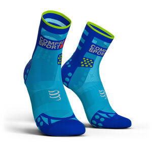 Compressport Pro Racing V3.0 Ultralight Run High Socks fluo blue fluo blue