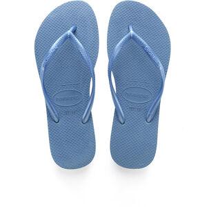 havaianas Slim Logo Flips Damen blue blue