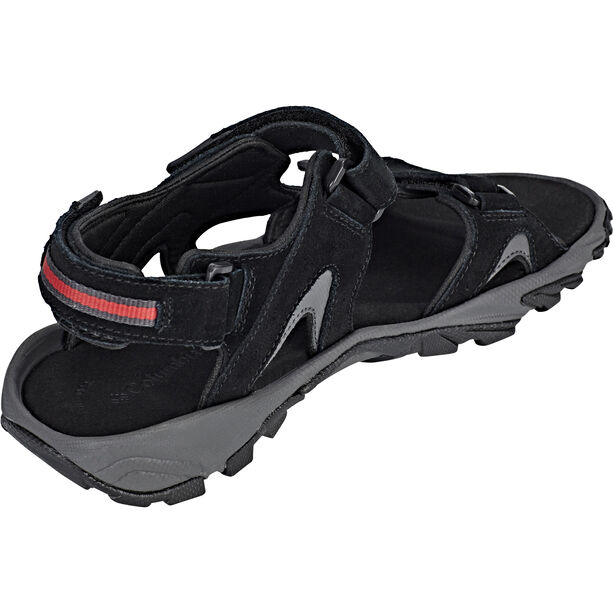 Columbia Santiam 3 Strap Sandals Herren black/mountain red