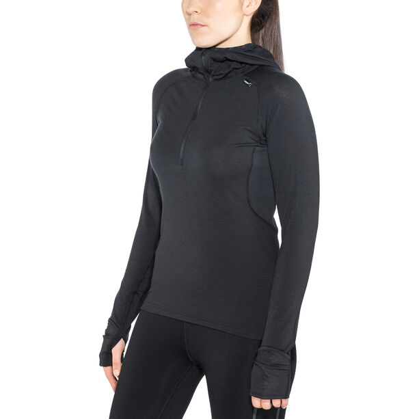 inov-8 Merino LS Zip Langarmshirt Damen black