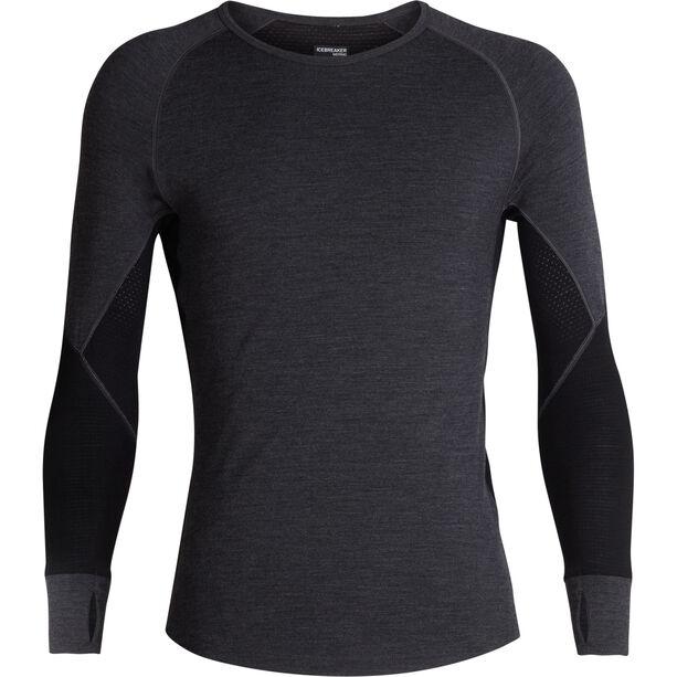 Icebreaker 260 Zone LS Crew Shirt Herren jet heather/black