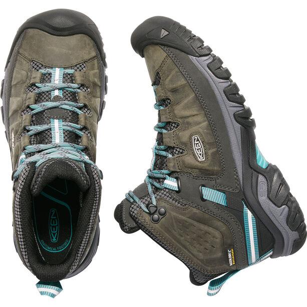 Keen Targhee III Mid WP Schuhe Damen alcatraz/blue turquoise