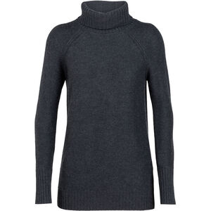 Icebreaker Waypoint Roll Neck Sweater Damen charcoal heather charcoal heather