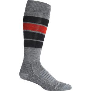 Icebreaker Ski+ Medium OTC Heritage Stripe Socken Herren gritstone heather gritstone heather