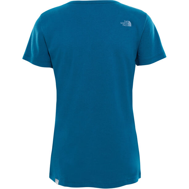 The North Face Simple Dome SS Tee Damen blue coral