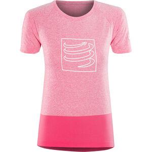 Compressport Training T-Shirt Damen pink pink