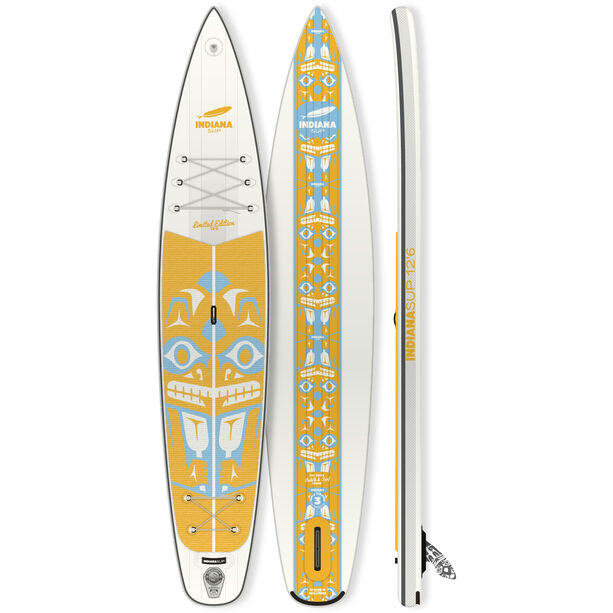 Indiana SUP 12'6 Touring LTD Aufblasbares SUP Board mit Triple Action Pumpe
