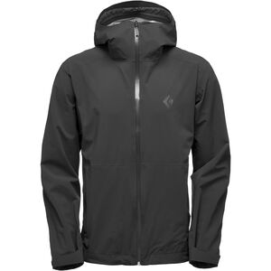 Black Diamond Stormline Stretch Rain Shell Jacket Herren black black