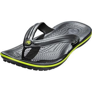 Crocs Crocband Flip Sandals graphite/volt green graphite/volt green