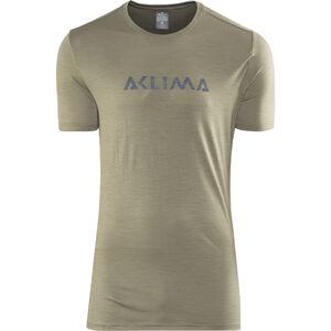 Aclima Lightwool Logo T-Shirt Herren ranger green ranger green