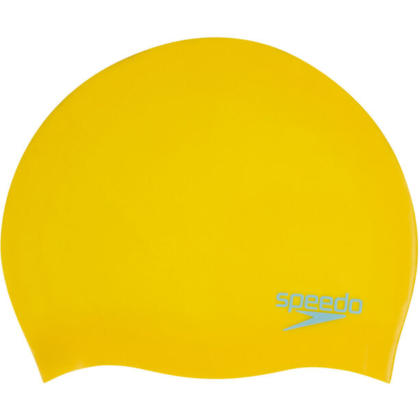 speedo Plain Moulded Silicone Cap Kinder empire yellow/chill blue
