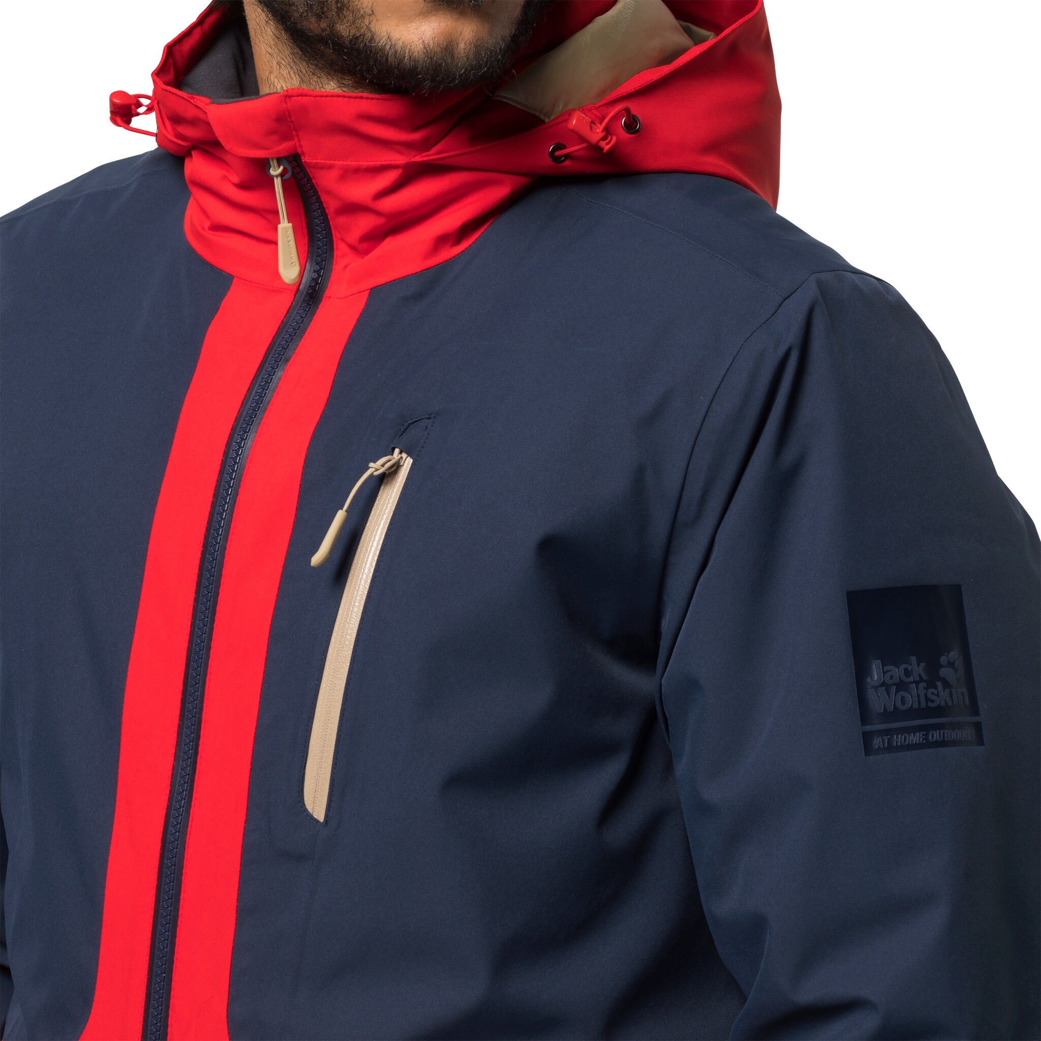 Jack Wolfskin 365 Millennial Parka Herren night blue peak red