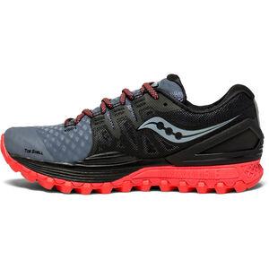 saucony Xodus ISO 2 Shoes Damen grey/black/vizipro red grey/black/vizipro red