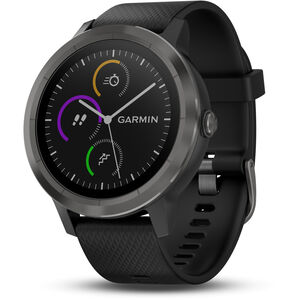 Garmin vívoactive 3 GPS Sportuhr mit schwarzem Silikonarmband schiefer schiefer