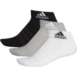 adidas Cush Socken Knöchelhoch 3er Pack Herren matte grey heather/white/black matte grey heather/white/black