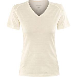 Devold Breeze V-Neck T-Shirt Damen offwhite offwhite