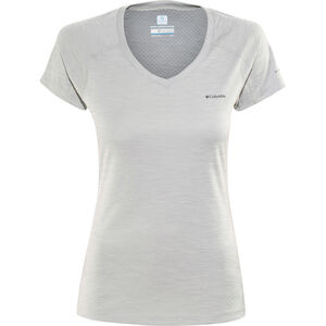 Columbia Zero Rules Shortsleeve Shirt Damen columbia grey heather columbia grey heather