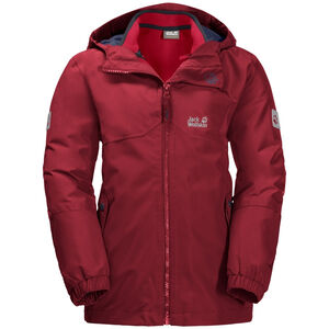 Jack Wolfskin B Iceland 3in1 Jacket Kinder dark lacquer red dark lacquer red