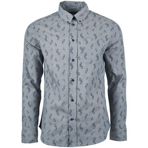 United By Blue Outpost LS Button Down Hemd Herren orion blue/clipped in orion blue/clipped in