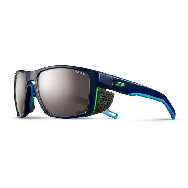 Julbo Shield Spectron 4 Sonnenbrille dark blue/blue/green-brown flash silver