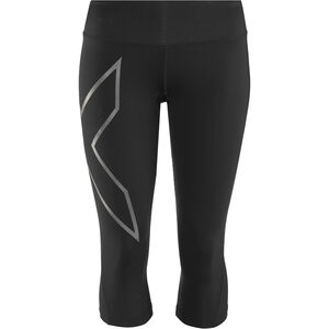 2XU Run Mid Rise Compression 3/4 Tights Damen black/ black reflective black/ black reflective