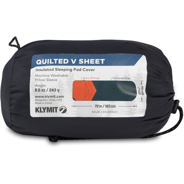 Klymit Quilted V Sheet red/grey