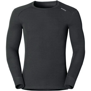 Odlo Warm Shirt LS Crew Neck Herren black black