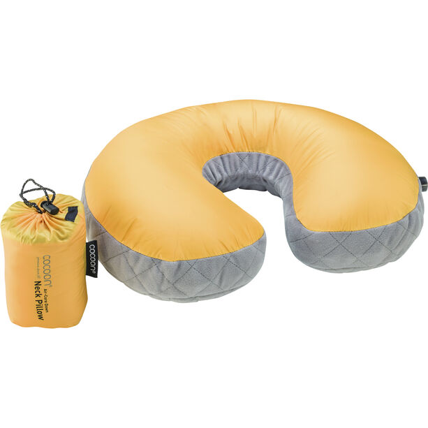 Cocoon Air Core Down Neck Pillow sunflower/grey