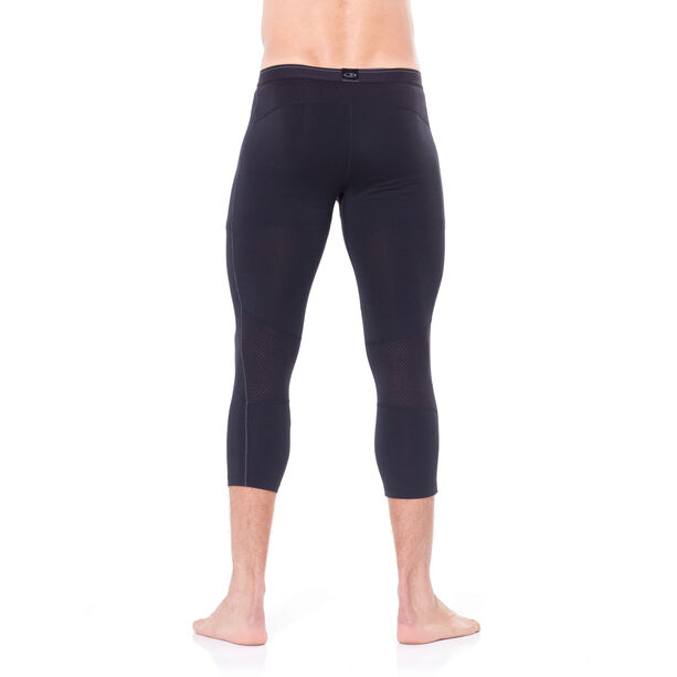 Icebreaker 200 Zone 3/4 Leggings Herren black/mineral