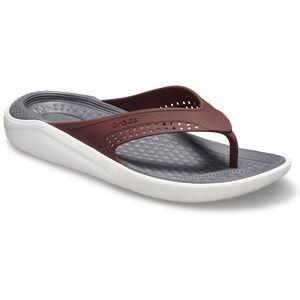 Crocs LiteRide Flip Sandals burgundy/white burgundy/white