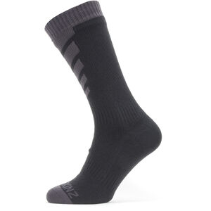 Sealskinz Waterproof Warm Weather Mid Socken black/grey black/grey