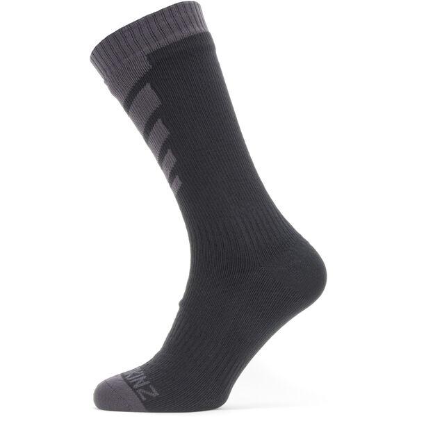 Sealskinz Waterproof Warm Weather Mid Socken black/grey