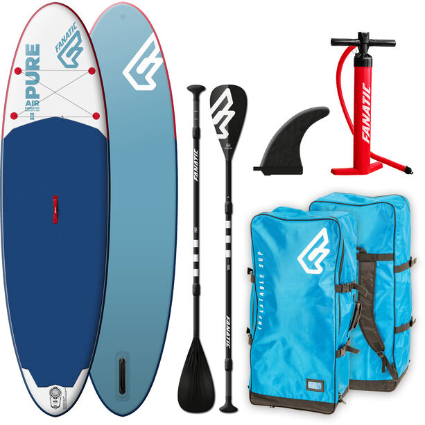 """Fanatic Pure Air Package 10'4"""" Inflatable Sup with Paddles and Pump none"""