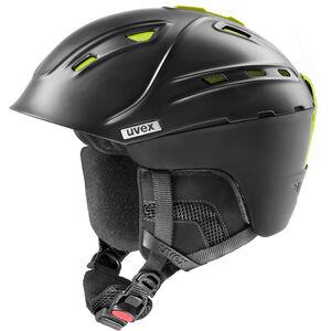 UVEX p2us IAS Ski Helm black mat yellow black mat yellow