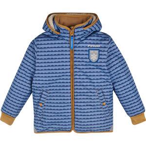 Finkid Vanu Soft Winterjacke mit abnehmbarer Kapuze Kinder pebbles blue/cinnamon pebbles blue/cinnamon