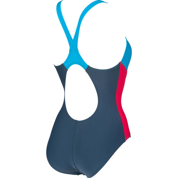arena Ren One Piece Swimsuit Damen shark/turquoise/freak rose