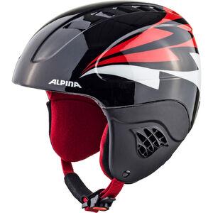 Alpina Carat Ski Helmet Kinder black-red black-red