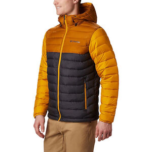 Columbia Powder Lite Hooded Jacket Herren shark/burnished amber