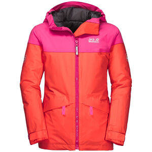 Jack Wolfskin Powder Mountain Jacke Mädchen orange coral orange coral