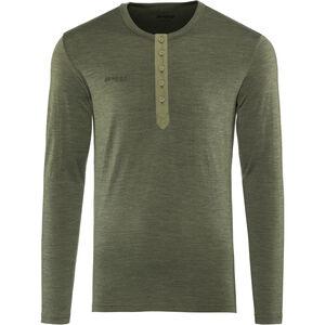 Bergans Henley Wool Shirt Herren seaweed melange seaweed melange