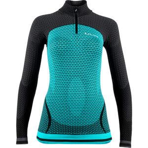 UYN Running Alpha OW Zip-Up Langarmshirt Damen green jewel/charcoal green jewel/charcoal