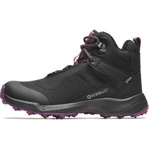 Icebug Pace3 BUGrip GTX Schuhe Damen black/dark hibiscus black/dark hibiscus