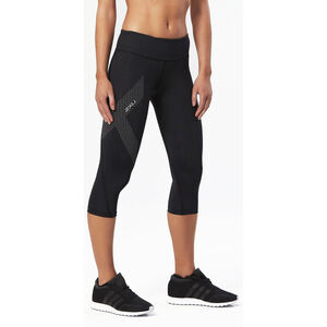 2XU Mid-Rise Compression 3/4 Tights Damen black/dotted reflective logo black/dotted reflective logo