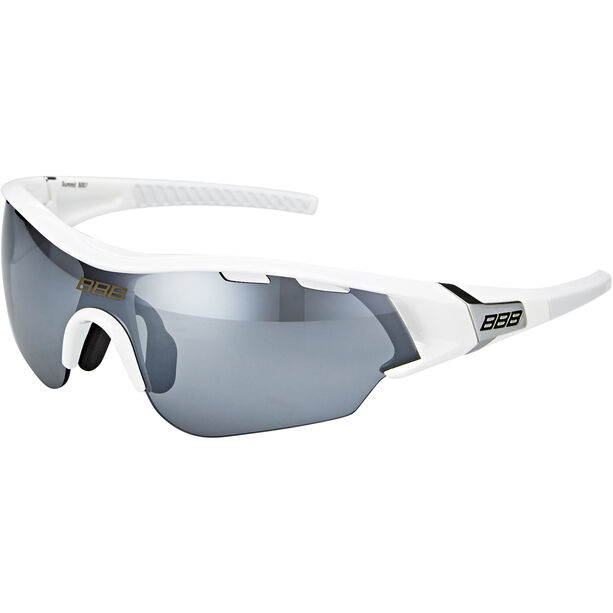 BBB Summit BSG-50 Sportbrille weiß glanz
