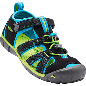 Keen Seacamp II CNX Sandals Kinder black/blue danube black/blue danube
